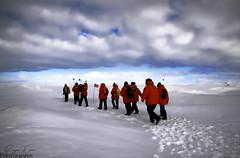 Pressure Ridge near Scott Base, Antarctica (photographybysuzan) Tags: ice pressureridge scottbase antarctica mcmurdosound ridges mcmurdostation bigred flags clouds cold windy