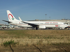 CN-RGN, Boeing 737-8B6(WL), 33075 / 4378, Royal Air Maroc, 50th Boeing 737 sticker, CDG/LFPG 2018-09-11, taxiway Alpha-Loop, outbound to CMN (alaindurandpatrick) Tags: cnrgn 330754378 737 738 737800 737nextgen boeing boeing737 boeing737nextgen boeing737800 jetliners airliners at ram royalairmaroc airlines specialstickers cdg lfpg parisroissycdg airports aviationphotography