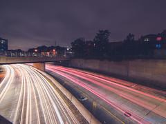 Fast Lane (Brian D' Rozario) Tags: newyork unitedstatesofamerica brian19869 briandrozario nikon d750 lighttrail lightstreak urban expressway traffic night longexposure manhattan brooklyn queens weekend redlight nyc newyorkcity city chaos highspeed hispeed