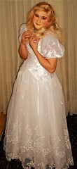 wedding gown (Martina H.) Tags: wedding gown white blonde girl woman elegant silk satin dress bride beauty