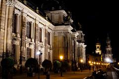 Dresden at night (A.K. 90) Tags: city street dresden strase night nachts building construction konstruktion architektur architecture sachsen maincity tourismus tourism ausflug sonyalpha6000 sigma30mm14