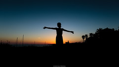 Embrace (Nicola Pezzoli) Tags: menorca baleares baleari island nature spain sea minorca isola embrace sunset ciutadella girl silhouette blue sky gradient