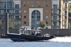 Patrick Colquhoun II (MP1) + MP11 @ Gallions Reach 26-10-18 (AJBC_1) Tags: riverthames london ship boat vessel metropolitanpoliceservice metpolice police policeboat ukpolice lawenforcement patrickcolquhounii mp1 dlrblog england unitedkingdom uk ©ajc northwoolwich eastlondon newham marinepolicingunit mps targa37 nikond3200 londonboroughofnewham ukemergencyservices ajbc1 gallionsreach mp11 deltarib rib