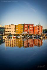 Trondheim, Norway 006 - Houses Reflection On Water (IVAN MAESSTRO) Tags: trondheim norway reflections building water sea ocean hdr sonymcanon maesstro