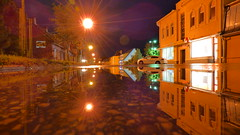 reflection (arvosoosalu) Tags: sky weather city nature outdoor autumn night trees car buildings water architecture citylights