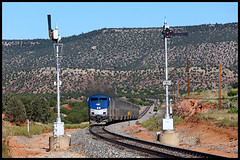 AMTK 137 (golden_state_rails) Tags: atsf santa fe amtk amtrak southwest chief 3 passenger train uss union switch signal upper quadrant three position semaphore intermediate mp786 apache springs chapelle nm new mexico tecolote creek