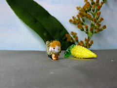 137-Yellow Corn fairy 11mm (3) (tinyteensdolls) Tags: amigurumi artdoll amigurumidoll amigurumiplant crochet craft crochetmini crochettoy crochetminiature crochetdoll miniature mini microcrochet micro miniamigurumi minicrochet fairytail fairy corn yellow autumn autumnleaves