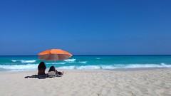 Paradise (piotr_szymanek) Tags: 1k 20f 50f 5k canaries landscape sea ocean beach sand water sky people umbrella paradise blue green 10k 100f 20k fuerteventura