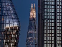Windows... (Aleem Yousaf) Tags: building architecture skyscraper tower windows sky glass steel modern shard 22 bishopsgate evening london long focal length 200500mm light blue hour sunset reflections glow shadows downtown skyline city cityscape door hotel november roof style me nikon nikkor d810 flickr window people