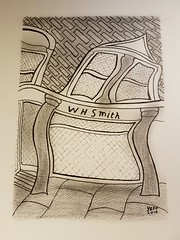 W H Smith Totnes. (jeffhill6) Tags: totnes abstractart drawing architecture whsmith