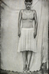 """Elegy"" V (RapidHeartMovement) Tags: self selfportrait portrait conceptual conceptart monochrome rapidheartmovement"