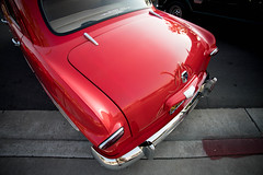 1950 Ford 4 Door Sedan (Photos By Clark) Tags: subjects california vehicles canon5div unitedstates location northamerica canon1740 locale places where escondido us 1950 ford 4door postwar restored lightroom custom red thesandiegoist