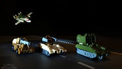 Micromaster Battle Patrol (Klinikle) Tags: transformers micromaster autobot patrol robot flak bigshot sidetrack sunrunner battle military vehicles hasbro