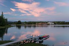 Firmament ({Brinkervelt}) Tags: maine mtdesertisland sky clouds light sunlight color water reflection pier dock boats sunset