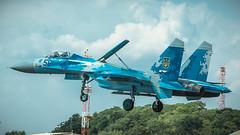 Su-27P1M (kamil_olszowy) Tags: su27p1m flanker fighter jet riat 2018 faiford 58 ukraine air force approach airshow 831s tactical brigade aviation су27п1м sukhoi сухой військовоповітряні сили україни siły powietrzne ukrainy истребитель бригада тактичної авіації