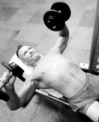 incline chest press (ddman_70) Tags: shirtless pecs abs muscle gym workout chest