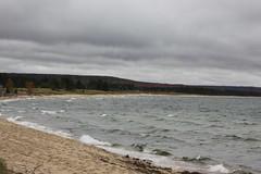 Lake Superior. (sambhensley) Tags: canoneos50d munising mi water falls foliage