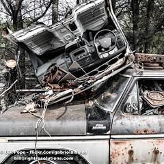 _BHP4987 (GabriolaBill) Tags: junk junkyard road roadtrip trip van yard