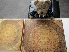 Diddunt we do well! (pefkosmad) Tags: jigsaw puzzle leisure hobby pastime secondhand sealed unused complete vintage arabianmosaic square fxschmid tedricstudmuffin teddy ted bear animal toy cute cuddly plush fluffy soft stuffed