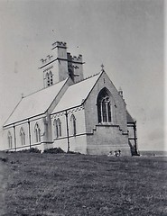 Church of St Helena Lundy Island 1950 (Bury Gardener) Tags: blackandwhite oldies old snaps scans landscape england uk britain 1950s 1950 monochrome mono bw lundy church