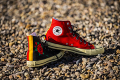 Custom Chuck Taylor (royjet3) Tags: custom chucktaylor converse allstar sneakers rose red yellow nikon d4