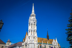 The Matthias Church in all it's glory complete with the diamond tiled roof and spires.