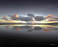 Reflecting Sunset1 (15) (g crawford) Tags: crawford westkilbride seamill portencross ayrshire northayrshire water clyde riverclyde firthofclyde sunset sundown gloaming orange sky arran reflect reflection mirror puddle beach ardneil bay ardneilbay