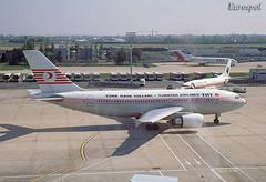TC-JCZ Airbus A310 Turkish (@Eurospot) Tags: tcjcz airbus a310 a310300 turkish thy paris orly lfpo