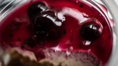 Blackcurrent Cheesecake (supertrev22) Tags: bfood blackcurrent canoneos5dsr ef100mmf28lmacroisusm macro macromondays canon cheesecake