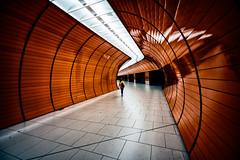 Yellow Dash (Sean Batten) Tags: munich bavaria germany de marienplatz orange city urban nikon d800 1424 lights metro subway underground person candid platform transport ubahn