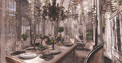A Time to Gather... (kellytopaz) Tags: shabby chic scarlet creative virtual living second life table dining gather holiday greenhouse sunroom