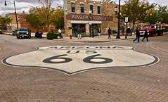 Standing on a Corner 3 (b737yyc) Tags: winslow arizona corner standingonacorner eagles lyrics song takeiteasy statue ford