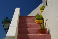 Steps of Colour (steve_whitmarsh) Tags: greece alonissos alonnisos building architecture steps wall blue white red topic top20greece