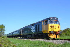 50049 Defiance (Will Swain) Tags: swanage railway diesel gala 13th may 2018 train trains rail railways transport travel uk britain vehicle vehicles england english 50049 defiance class 50 049 williamsdigitalcamerapics101 woodyhyde campsite during harmons cross