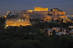 La culla della civiltà / The cradle of civilization. (Acropolis, Athens, Greece) (AndreaPucci) Tags: athens greece acropolis parthenon andreapucci night temple herodesatticus dionysus