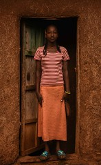 Wollayta Girl (Rod Waddington) Tags: africa african afrique afrika äthiopien ethiopia ethiopian ethnic etiopia ethnicity ethiopie etiopian wollaita wolayta wollayta tribe traditional tribal girl teenager saware hut home door culture cultural child