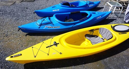 "Water Quest ""Aruba 10"" with paddles ($291.20 x2) & yellow with paddles ($179.20)"