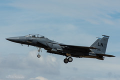 USAF, McDonnell Douglas F-15E Strike Eagle (91-0315/LN), 492nd FS/48th FW (mattmckie98) Tags: aircraft aviation airforce usaf us military lakenheath jet fighter nikon f15