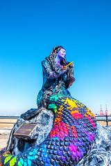 Mermaid (Tony Shertila) Tags: wallasey england unitedkingdom 20180505123808wirralnewbrightonlr europe britain merseyside wirral mermaid globe sculpture colour mythology