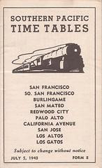 SPcommuteTT05JUL43 01 (By Air, Land and Sea) Tags: train rail railway railroad commuter suburban california sanfrancisco sanjose pcs peninsulacommuteservice timetable schedule southernpacific