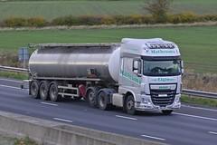 SW14 AKP (panmanstan) Tags: daf xf wagon truck lorry commercial tanker freight transport haulage vehicle m62 motorway sandholme yorkshire