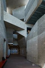 Indoor of Yurihonjo City Cultural Center KADARE (由利本荘市文化交流館 カダーレ) (christinayan01 (busy)) Tags: indoor interior akita japan building architecture perspective concrete