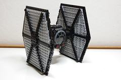 First Order TIE Fighter: Right-Front View (Evrant) Tags: lego star wars tie fighter starfighter custom moc spaceship ship first order evrant