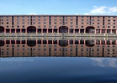 Albert Dock Reflected (.annajane) Tags: albertdock royalalbertdock liverpool water reflection warehouse merseyside uk england blue dock sky architecture building