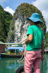 Local Vietnamese Woman in Ha Long Bay (wuestenigel) Tags: halongbay limestone locals vietnam harbour boatride water wasser people menschen travel reise one ein child kind outdoors drausen recreation erholung river fluss adult erwachsene vacation ferien nature natur leisure freizeit man mann daylight tageslicht summer sommer landscape landschaft lid mitglied boat boot fisherman fischer lake see