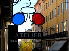 Lisbon 2018 Type (Chris Draper) Tags: glasses optician opticians type typography letters lettering lisbon lisboa portugal blue red street streetsign atelier