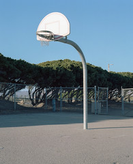 Morro Bay (fraser_west) Tags: film 120 kodak portra 6x7 mamiya rz67 court hop basketball sunlight california travel roadtrip morrobay wetheconspirators