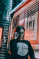 (maxvnck) Tags: portrait night neon colors glasses port vintage