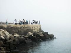 foggy morning (lauracastillo5) Tags: fog porto sea river water portugal people city cityscape citylife outdoors white landscape