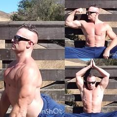 outdoor yoga (ddman_70) Tags: shirtless pecs abs muscle yoga outdoors sweatpants broga